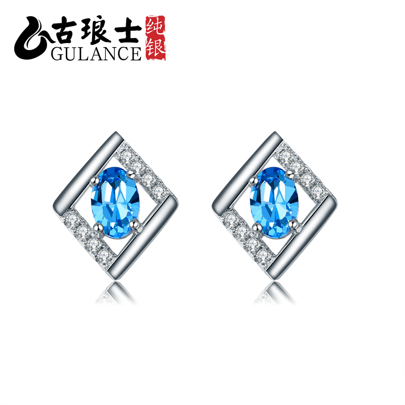 Gulance 925 silver earrings temperament however demon diamond earrings silver jewelry earrings korea