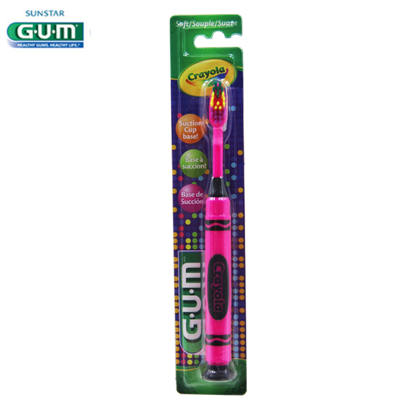 Gum crayola painted children music fun for children aged super soft bristle toothbrush with a suction cup