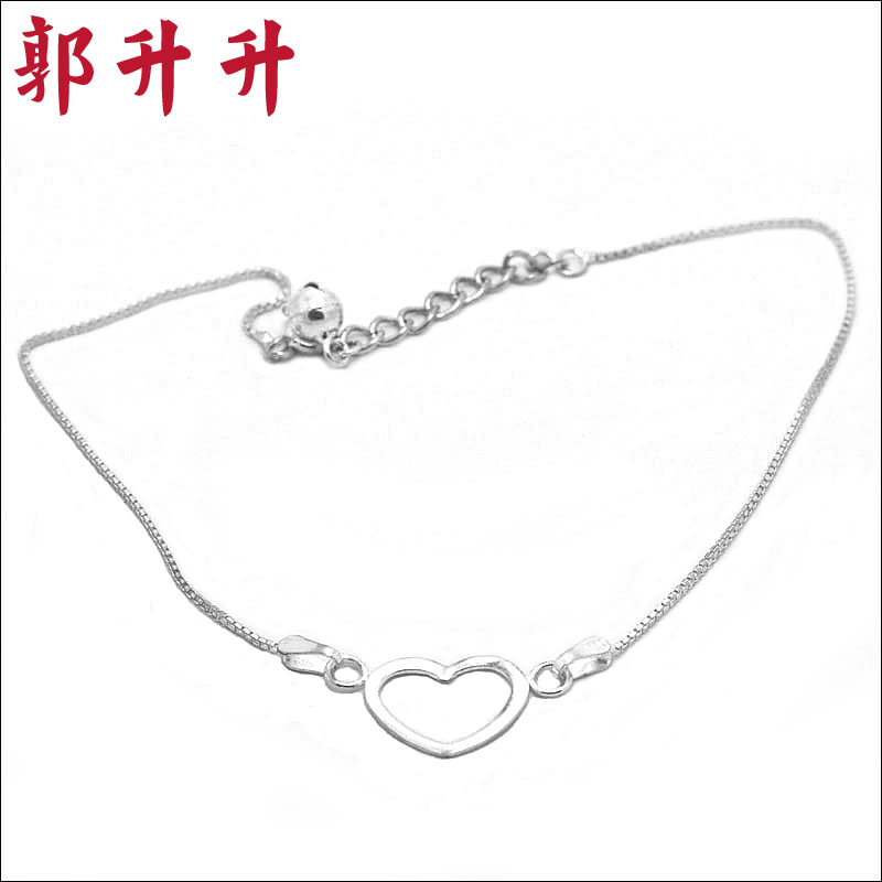 Guo rose and authentic 925 silver anklets you worried about your heart love anklets silver anklets fashion jewelry