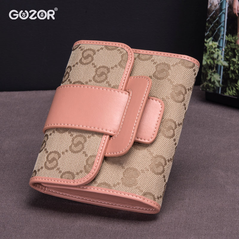 Guzor/ancient zhuo european and american canvas wallet large capacity wallet female short paragraph ms. short wallet money bag mini