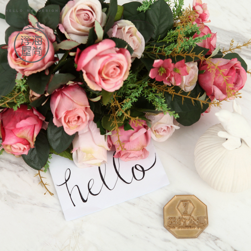 H house is still floating sea bunch of roses to continental rose artificial flowers suit the living room decorative floral silk flower artificial flowers artificial flowers potted