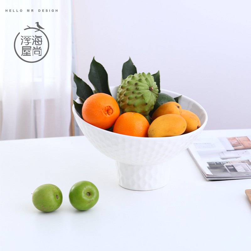 H house is still floating sea solid ceramic fruit plate fruit plate ornaments home minimalist dining table coffee table decorations