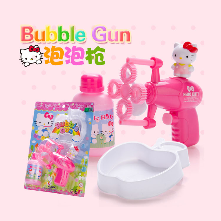 Ha myself hello kitty electric bubble gun bubble machine blowing bubbles kt-50008 hello kitty children girl toys