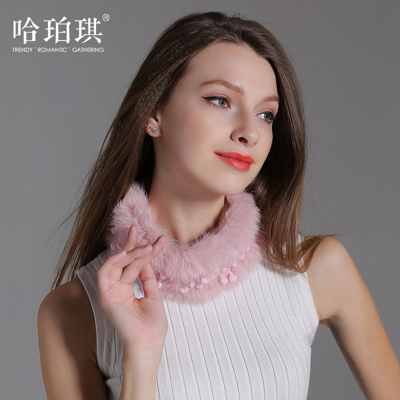 Ha poqi new sweet rabbit fur scarf warm winter scarf collars korean fashion wild cute