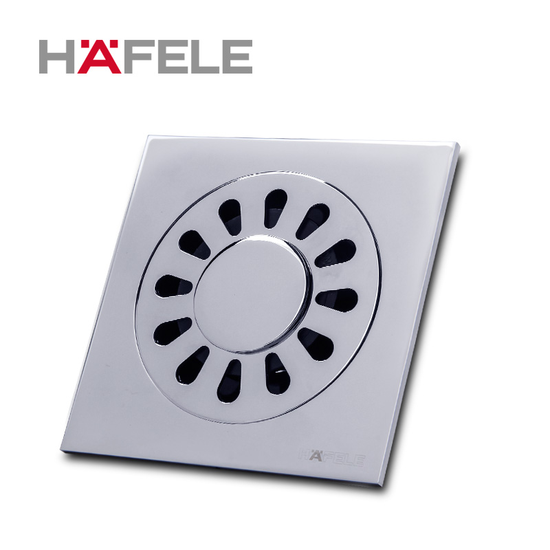 Hafele copper chrome light square full of copper bathroom suite bathroom floor drain odor floor drain washing machine drain