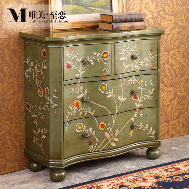 Get Quotations · Hall Cabinet Four Doo Doo Cabinet Sideboard American  Country Retro Decorative Storage Cabinet Storage Cabinet Cabinet