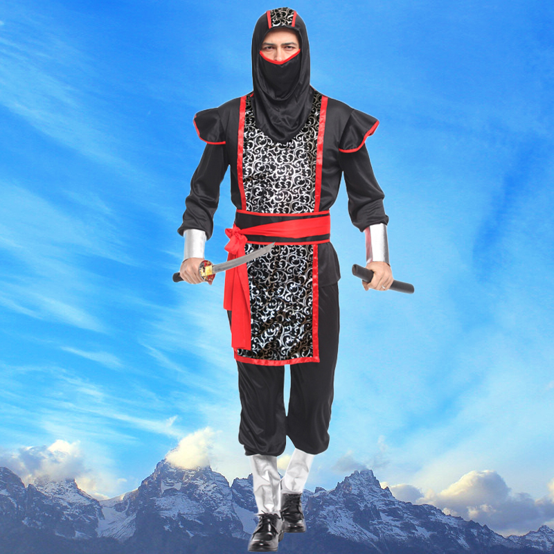 Halloween costume adult male body armor invisible man ninja cosplay costume party masquerade party dress