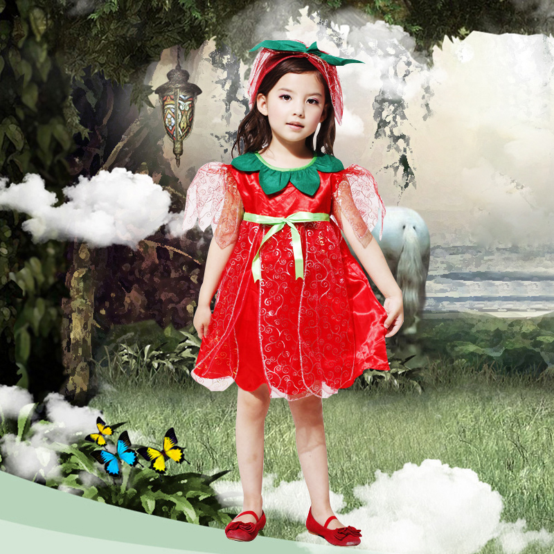 Get Quotations · Halloween costume masquerade performance clothing for children red rose fairy angel dress dress  sc 1 st  Shopping Guide - Alibaba & China Puffy Fairy Dress China Puffy Fairy Dress Shopping Guide at ...