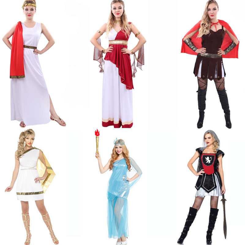 Halloween costumes female sparda ancient roman soldiers cos dance clothes adult female roman warrior costume