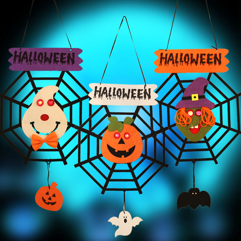 Halloween decorations halloween props halloween decorations halloween haunted house bar supplies luminous door hanging door hanging ornaments spider pumpkin