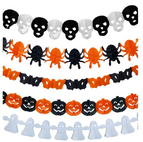 Halloween garland decorations props scene layout kito spider pumpkin ghost banner brace variety can be picked