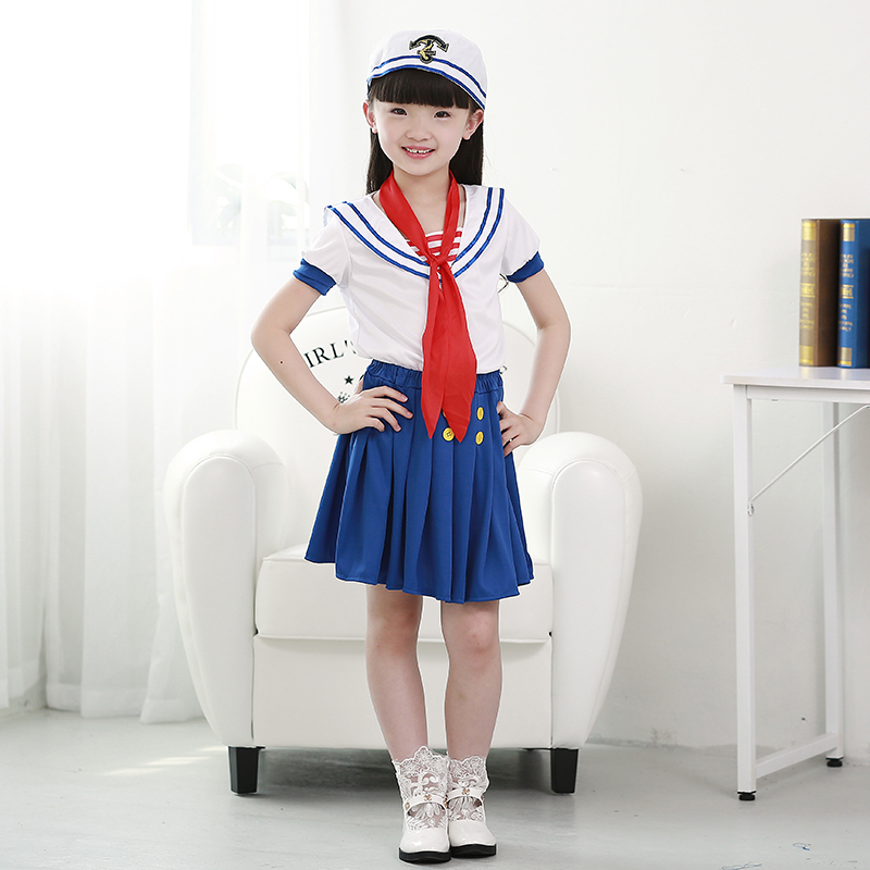 Get Quotations · Halloween girls suit childrenu0027s stage performance clothing childrenu0027s small navy sailor sailor cos clothing  sc 1 st  Shopping Guide - Alibaba & China Two Girls Sailor China Two Girls Sailor Shopping Guide at ...