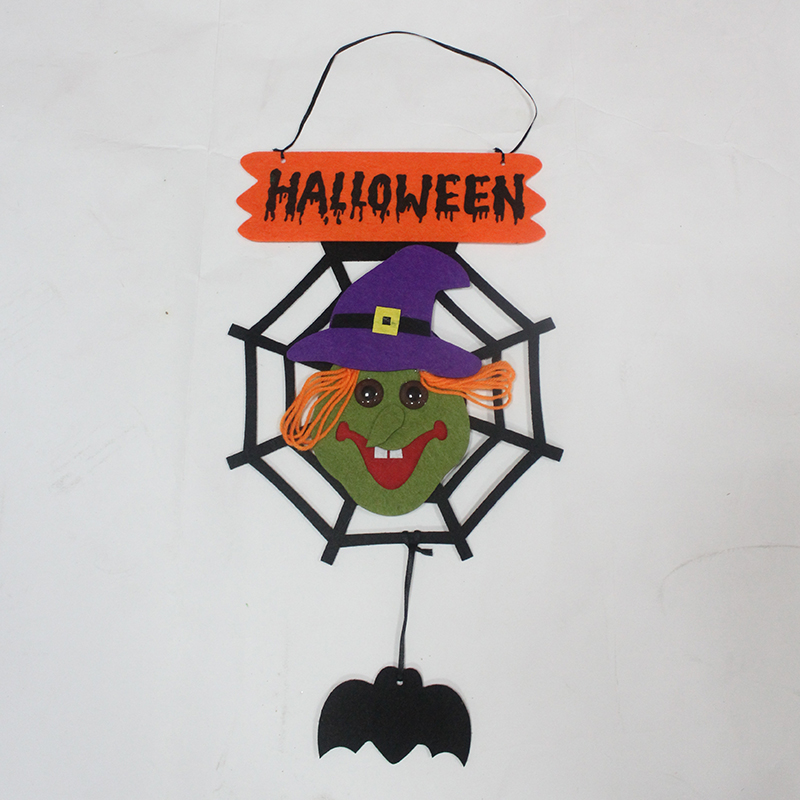 Halloween halloween supplies decorative props haunted house bar decoration ornaments spiders secluded spirit of the numbers listed on the door hanging