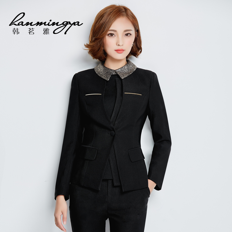29ad2b4841 Get Quotations · Han ming ya fall and winter ladies dress ol ladies wear  skirt suits wear overalls female