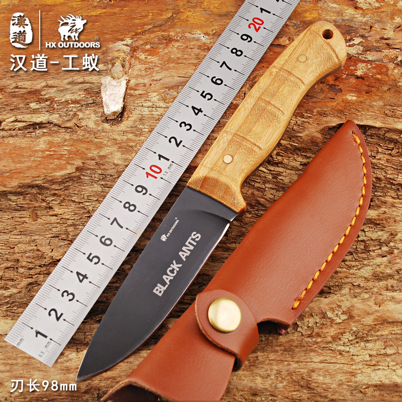 Han tao worker high hardness outdoor tactical defense army knife straight knife outdoor survival knife outdoor tool knife with body