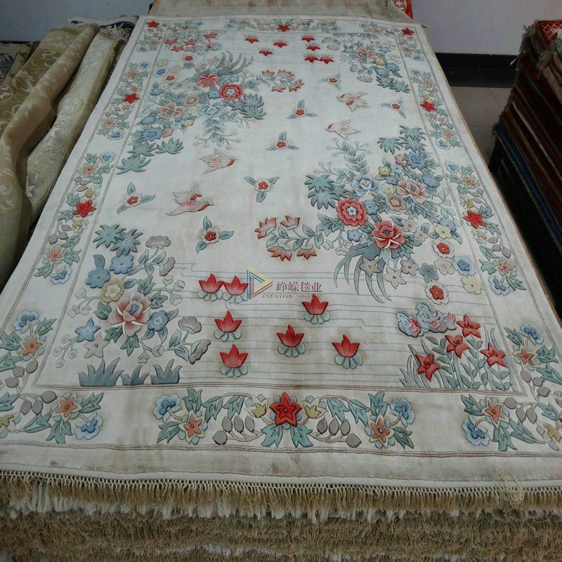 Hand knotted silk carpets * silk carpet bedroom villa living room carpet handmade carpets jianhua * custom