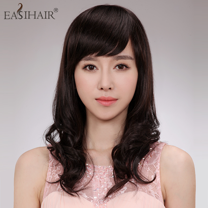 Hand woven easihair wig lady wig real hair wigs real hair wig long curly hair wig in the long