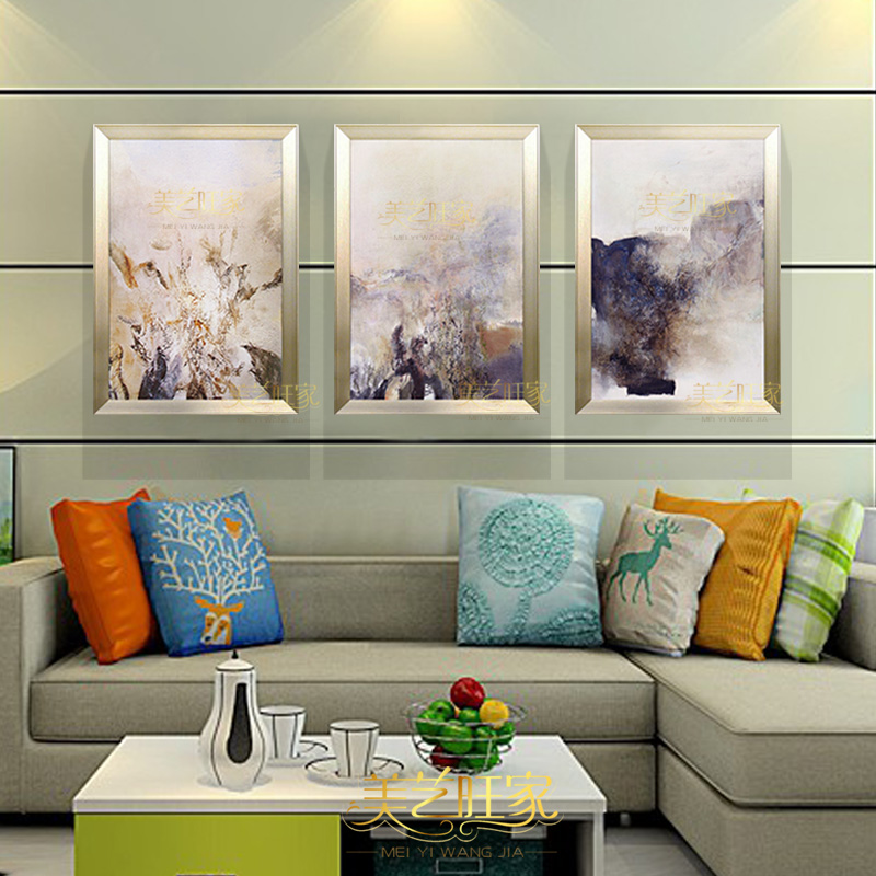 Handmade abstract oil painting copy zao triple sets of combination bedroom modern minimalist living room decorative paintings