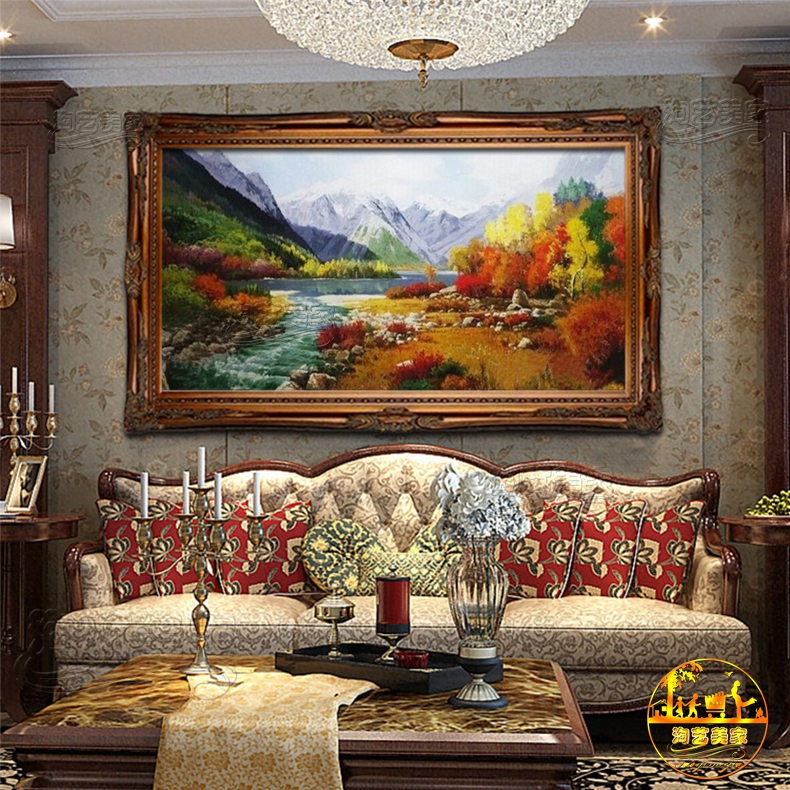 Handmade decorative painting the living room landscape of pure hand painted oil painting us european landscapes xuan off FJ1778 authentic paintings