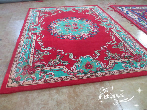 Handmade pure wool carpets custom made to thicken encryption living room coffee table bedroom european style full of big carpet shop y860