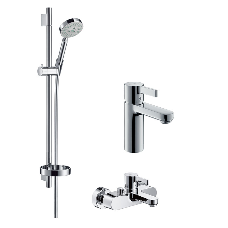 Hansgrohe raindance s100 metris basin faucet shower faucet shower three sets