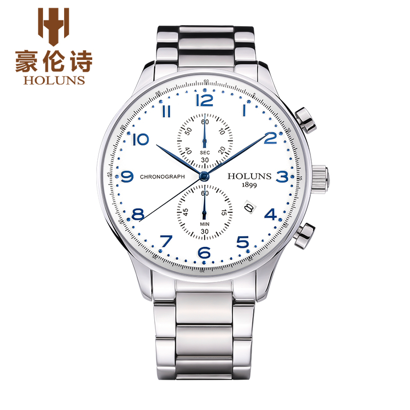 Hao lun poetry genuine multifunction watches men's fashion business waterproof steel male table quartz watch men watch