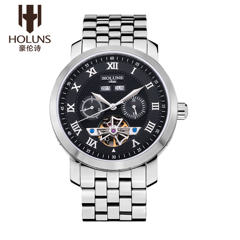 Hao lun poetry men's watches automatic mechanical steel male table leisure and business fashion genuine waterproof watch