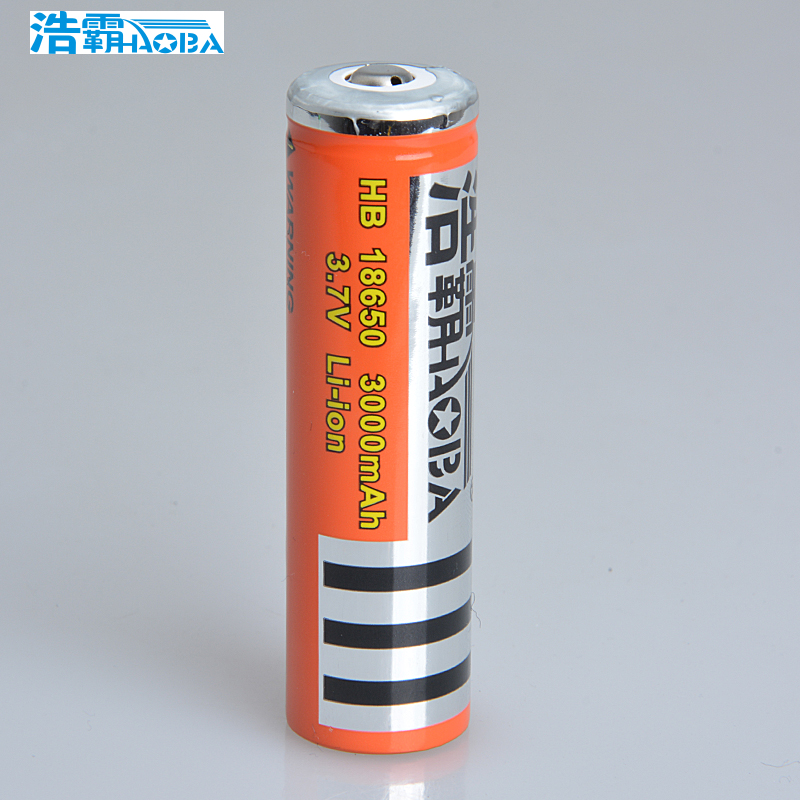Hao pa 18650 v rechargeable lithium battery flashlight battery 18650 lithium ion battery original
