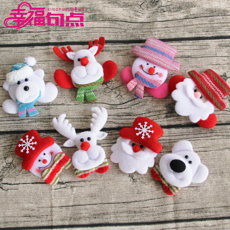 Happy end christmas decorations christmas party supplies christmas tree brooch hairpin led illuminated ornaments