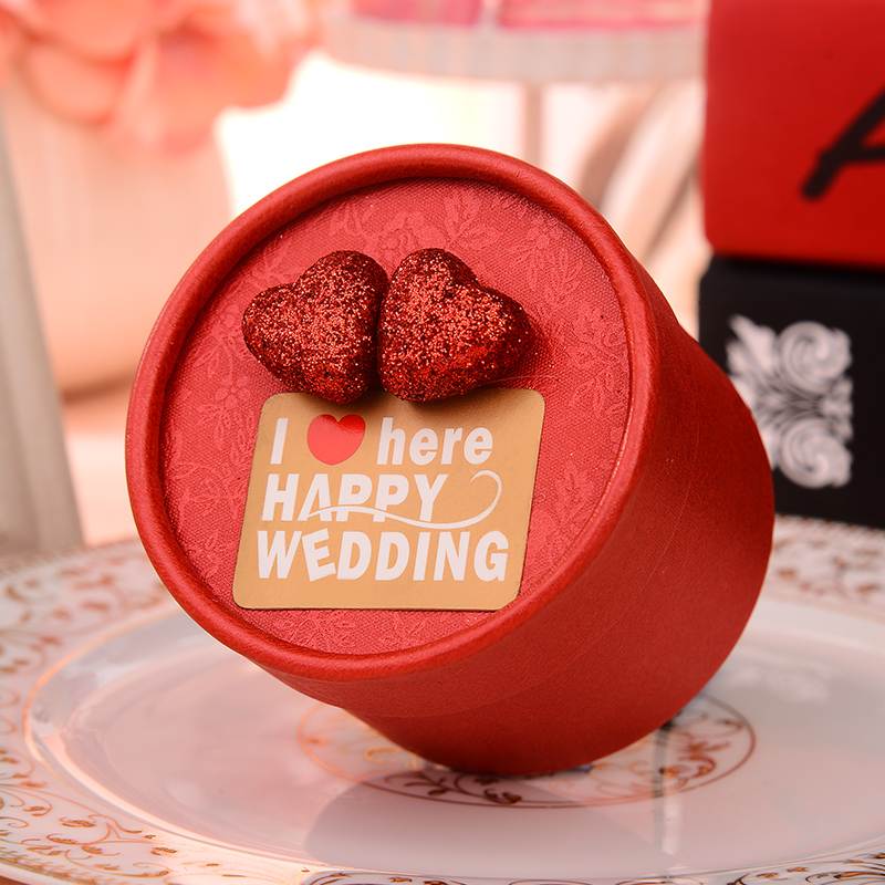 Happy tree chinese candy box candy box continental korean creative candy box cylinder marriage ceremony candy box gift box
