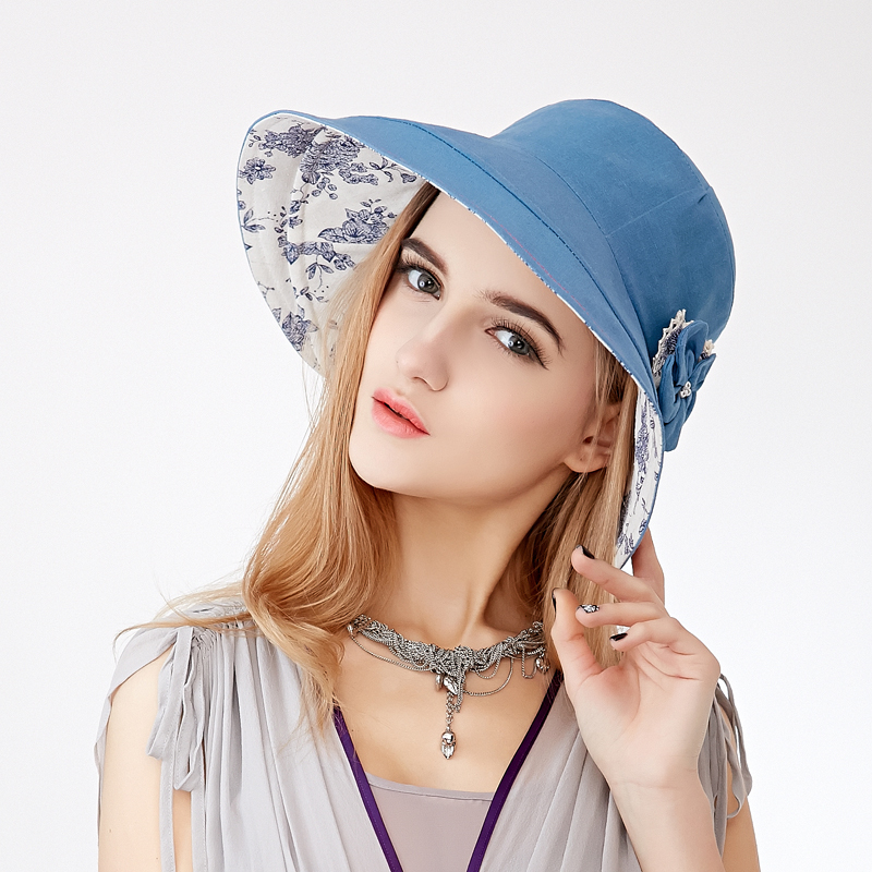 4e6dfbf6050 Get Quotations · Hat female summer sun hat sun hat riding hat sun shade uv  sunscreen wind water pauline