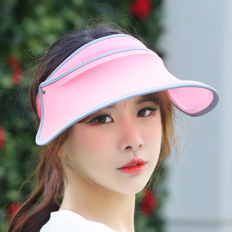 b2ce208d840 Get Quotations · Hat female summer sun hat uv sun hat empty top hat outdoor  retractable fluorescent whitening star