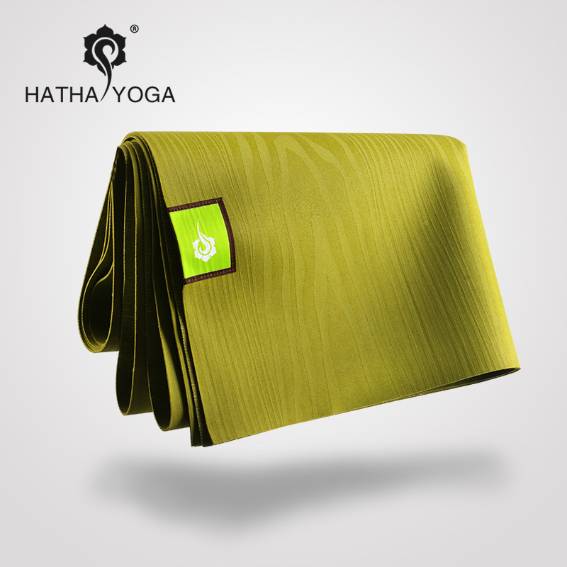 Hatha natural rubber [travel portable folding] thin slip yoga mat lengthened professional nontoxic