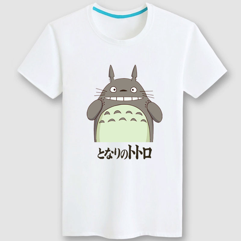 Hayao miyazaki's my neighbor totoro short sleeve t-shirt summer men's cotton t-shirt lovers short sleeve