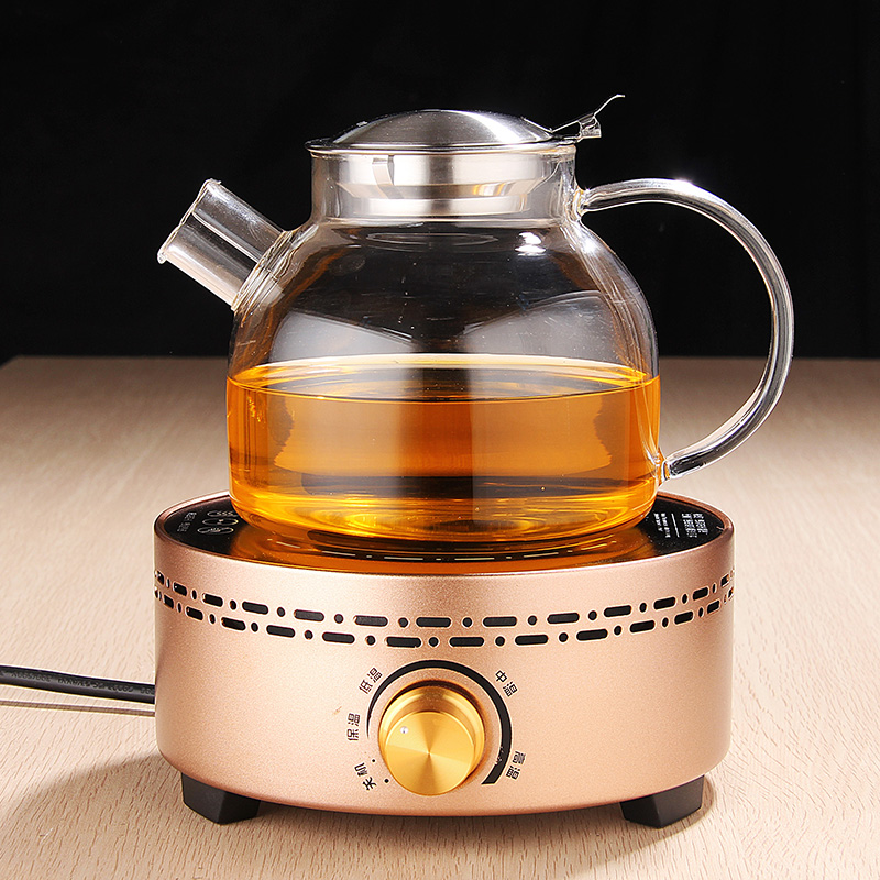 Heat resistant full glass teapot electric ceramic stove to boil water for tea teapot filter komarvvii bubble glass teapot tea making facilities