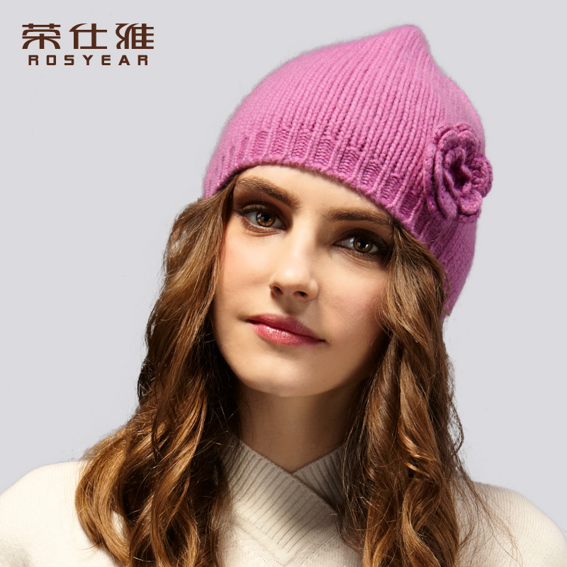 Hedging cap hat female autumn and winter cashmere warm hat japan and south korea sweet ladies cashmere wool knit cap