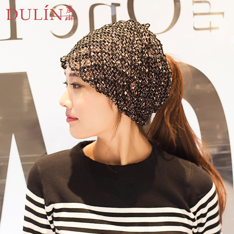 Hedging hat female autumn korean version of casual lace empty top hat cap piles of thin female models korean version of baotou hat lady tide