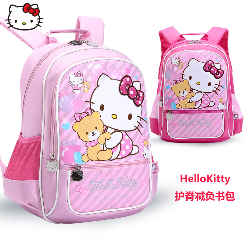 Hello kitty children's school bags primary grades shoulder bag backpack girls hello kitty cute girls