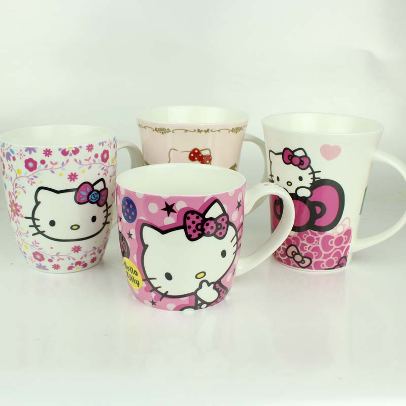 Hello kitty hello kitty cute mug cup ceramic cup coffee cup milk cup children tableware cup watercups