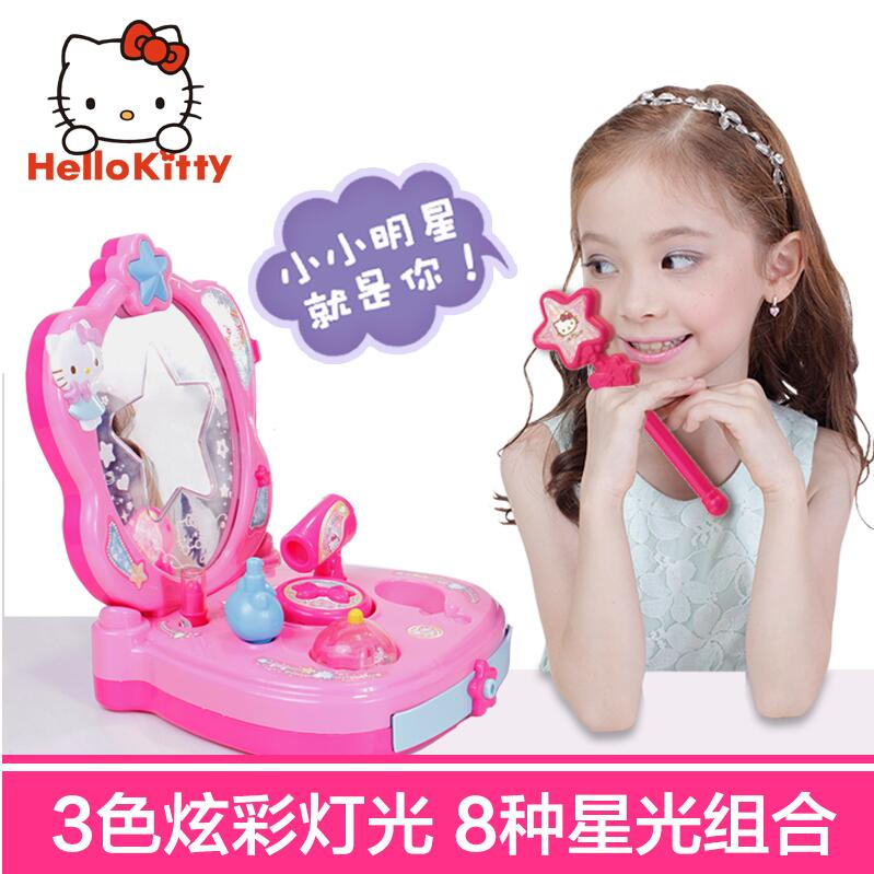 Hello kitty hello kitty girls princess dressing table vanity dressing table simulation educational toys for children play house home