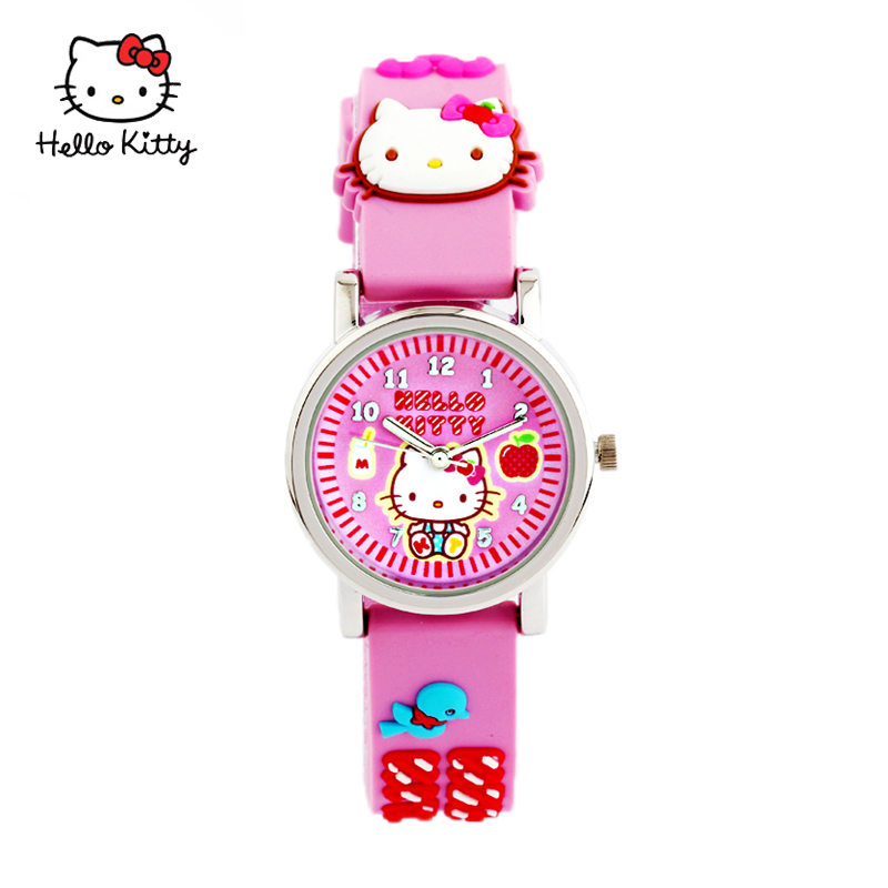 Hello kitty hello kitty kt cat girl students watch children watch quartz watch girls jelly watch