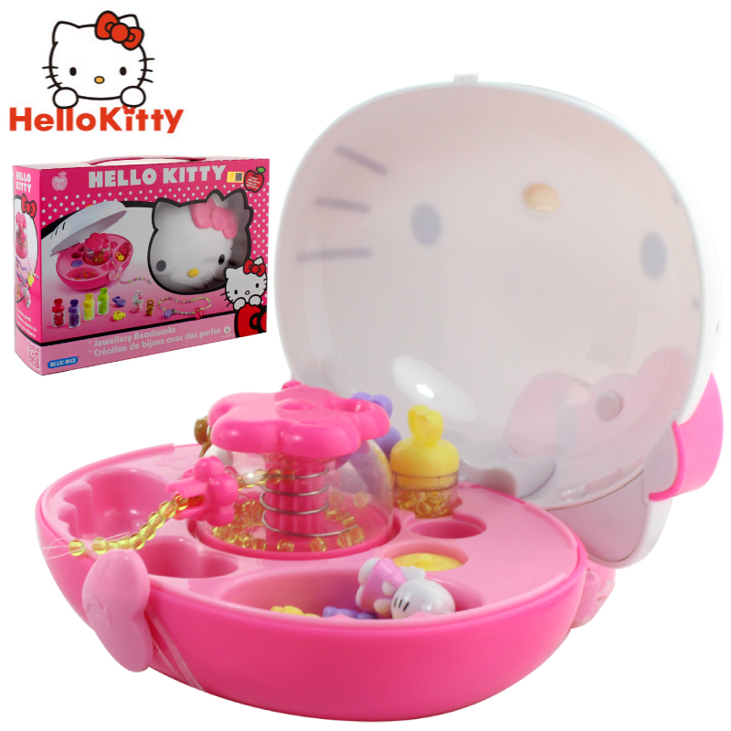 Hello kitty hello kitty series of creative diy handmade bead machine girls knit creative beaded toy