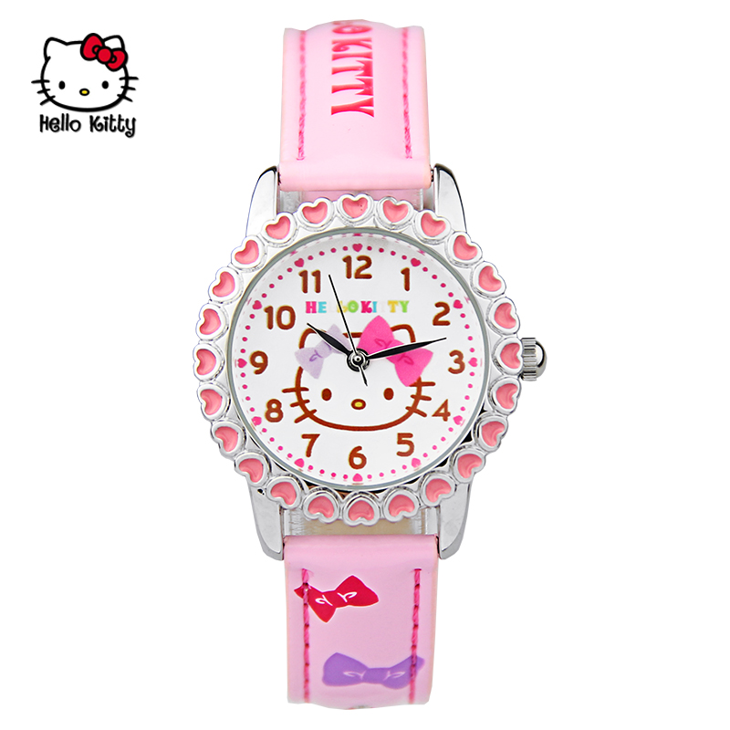 Hello kitty watch korean children watch cute girl students watch electronic watch girls kt cat cartoon