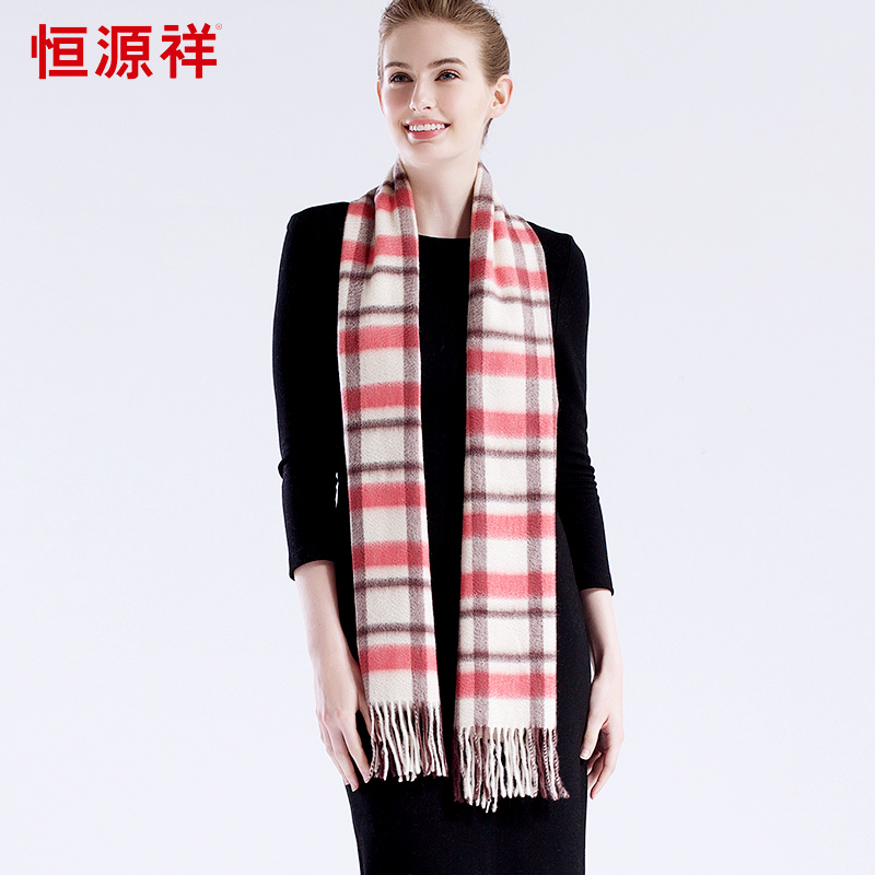 Heng yuan xiangç±³plaid thick warm autumn and winter wild female wool scarf shawl around the neck