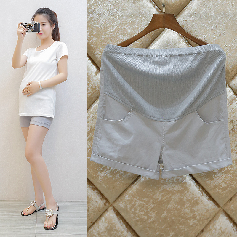 Hi figure maternity summer shorts slim summer and autumn fashion big yards pregnant women pregnant women pants care of pregnant women pregnant belly pants outer wear