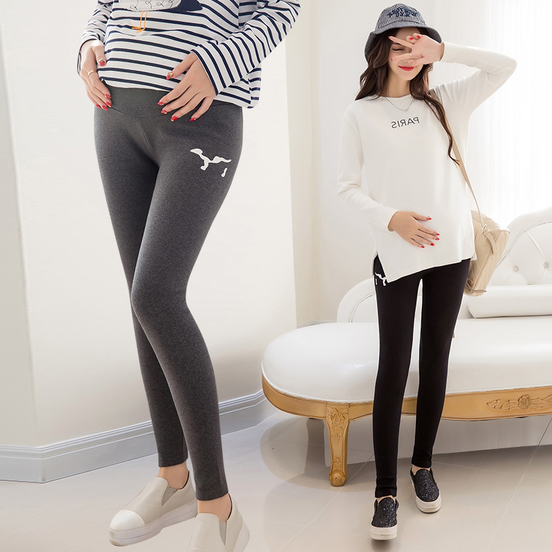 Hi pregnant us fashion leggings care of pregnant women were thin stretch pants trousers care of pregnant women pregnant autumn adjustable prop pregnant belly maternity pants