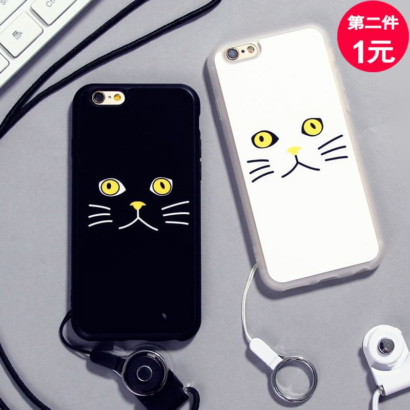 Hi too bow apple iphone6s phone shell lanyard plus protective sleeve 5s cartoon popular brands of soft silicone