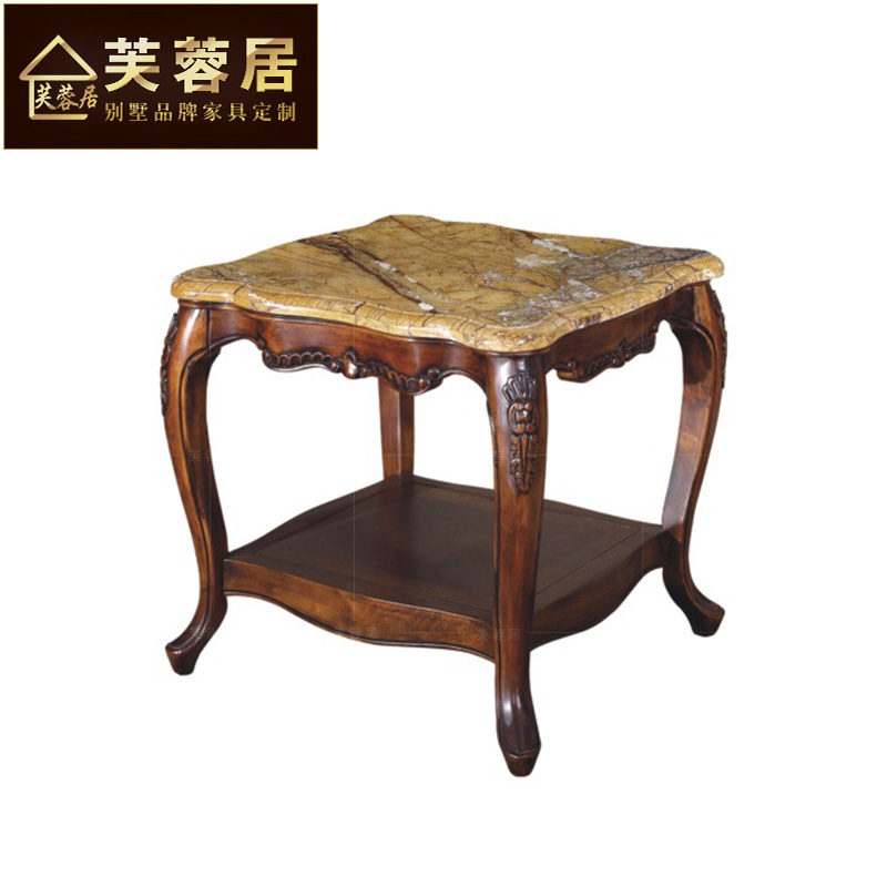 Get Quotations · Hibiscus Habitat Continental Furniture American Luxury Marble  Corner A Few Side A Few Small Square Table