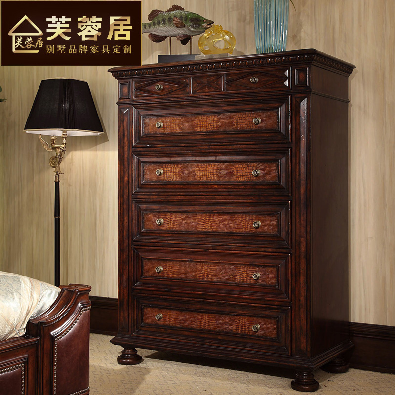 Hibiscus ranking american country house furniture multifunctional furniture chest of drawers chest of drawers wood chest of drawers drawers continental antique