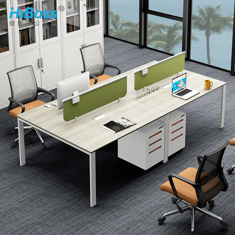 [Hiboss] minimalist modern office furniture desk staff tables office wall 6 digit combination work 2 4